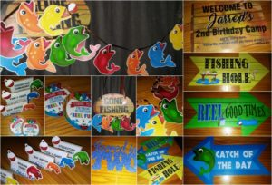 gone fishing birthday party goodies